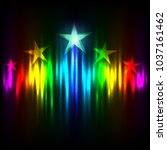 rainbow stars rise up on colors ...   Shutterstock .eps vector #1037161462