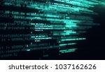 the programming code works... | Shutterstock . vector #1037162626