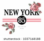 slogan graphic with embroidery   Shutterstock .eps vector #1037168188
