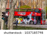 madrid sightseeing tours by bus ... | Shutterstock . vector #1037185798