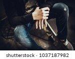 hipster in renevation loft | Shutterstock . vector #1037187982