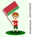 fan of belarus national... | Shutterstock .eps vector #1037193352