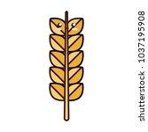 colorful  kawaii heat spike...   Shutterstock .eps vector #1037195908