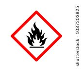 flammable icon vector | Shutterstock .eps vector #1037203825