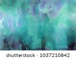 colorful watercolor ombre leaks ... | Shutterstock . vector #1037210842