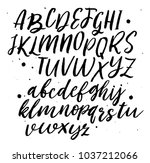 vector alphabet. hand lettering ... | Shutterstock .eps vector #1037212066