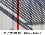view of a colored facade of a... | Shutterstock . vector #1037216686