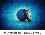 3d illustration security...   Shutterstock . vector #1037217952