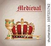 medieval army emblem | Shutterstock .eps vector #1037221762