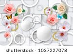 flowers on a background of... | Shutterstock . vector #1037227078