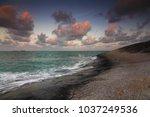 beautiful seashore cliff | Shutterstock . vector #1037249536