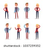 office people working and poses ... | Shutterstock .eps vector #1037259352