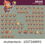druid cartoon game character... | Shutterstock .eps vector #1037268892