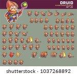 druid cartoon game character... | Shutterstock .eps vector #1037268892