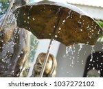raindrop keeps falling on my... | Shutterstock . vector #1037272102