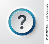 web icon push button question... | Shutterstock .eps vector #1037272132