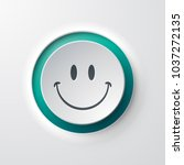 web icon push button smile... | Shutterstock .eps vector #1037272135