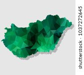 map hungary map each city... | Shutterstock .eps vector #1037272645