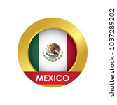 mexico flag icon button with... | Shutterstock .eps vector #1037289202