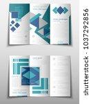 blue fold set technology annual ... | Shutterstock .eps vector #1037292856