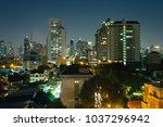 bangkok night building... | Shutterstock . vector #1037296942