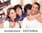 portrait of a beautiful family... | Shutterstock . vector #103732826