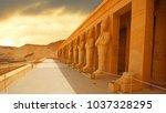 anscient temple of karnak in... | Shutterstock . vector #1037328295