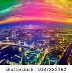 london city sunset  mystic...   Shutterstock . vector #1037332162