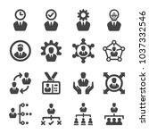 manager icon set | Shutterstock .eps vector #1037332546