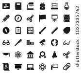 flat vector icon set   book... | Shutterstock .eps vector #1037335762