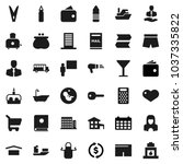 flat vector icon set  ... | Shutterstock .eps vector #1037335822