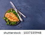 grilled breas chicken with corn ... | Shutterstock . vector #1037335948
