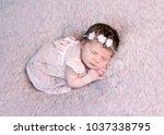 Lovely Newborn Girl In Dress...