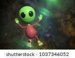 Cute Little Alien Cartoon...
