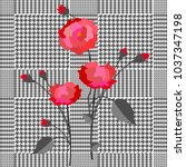 Elegant Checkered  Print With...