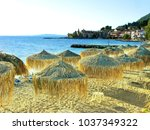 blue lagoon beach coast in the... | Shutterstock . vector #1037349322