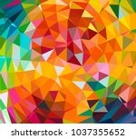 abstract geometric triangle... | Shutterstock .eps vector #1037355652