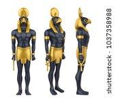 Egyptian God Horus Statue...