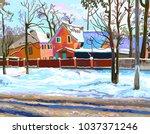 Digital Painting Of Rural...