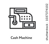 cash machine vintage antique... | Shutterstock .eps vector #1037374102