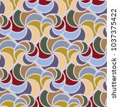 abstract color seamless pattern ... | Shutterstock .eps vector #1037375422