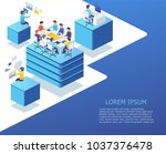 group of business people... | Shutterstock .eps vector #1037376478