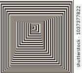 optical illusion  black and...   Shutterstock .eps vector #1037377822