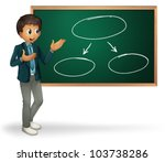 businessman cartoon presenting... | Shutterstock .eps vector #103738286