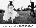 a loving couple   the bride and ... | Shutterstock . vector #1037393266