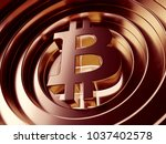 bitcoin crypto currency symbol... | Shutterstock . vector #1037402578