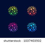 technology logo vector template ... | Shutterstock .eps vector #1037403502