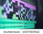 video editting timeline | Shutterstock . vector #1037403562