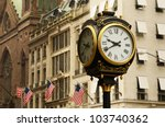 old clock on the avenues of new ... | Shutterstock . vector #103740362