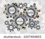 flat design illustration...   Shutterstock .eps vector #1037404852
